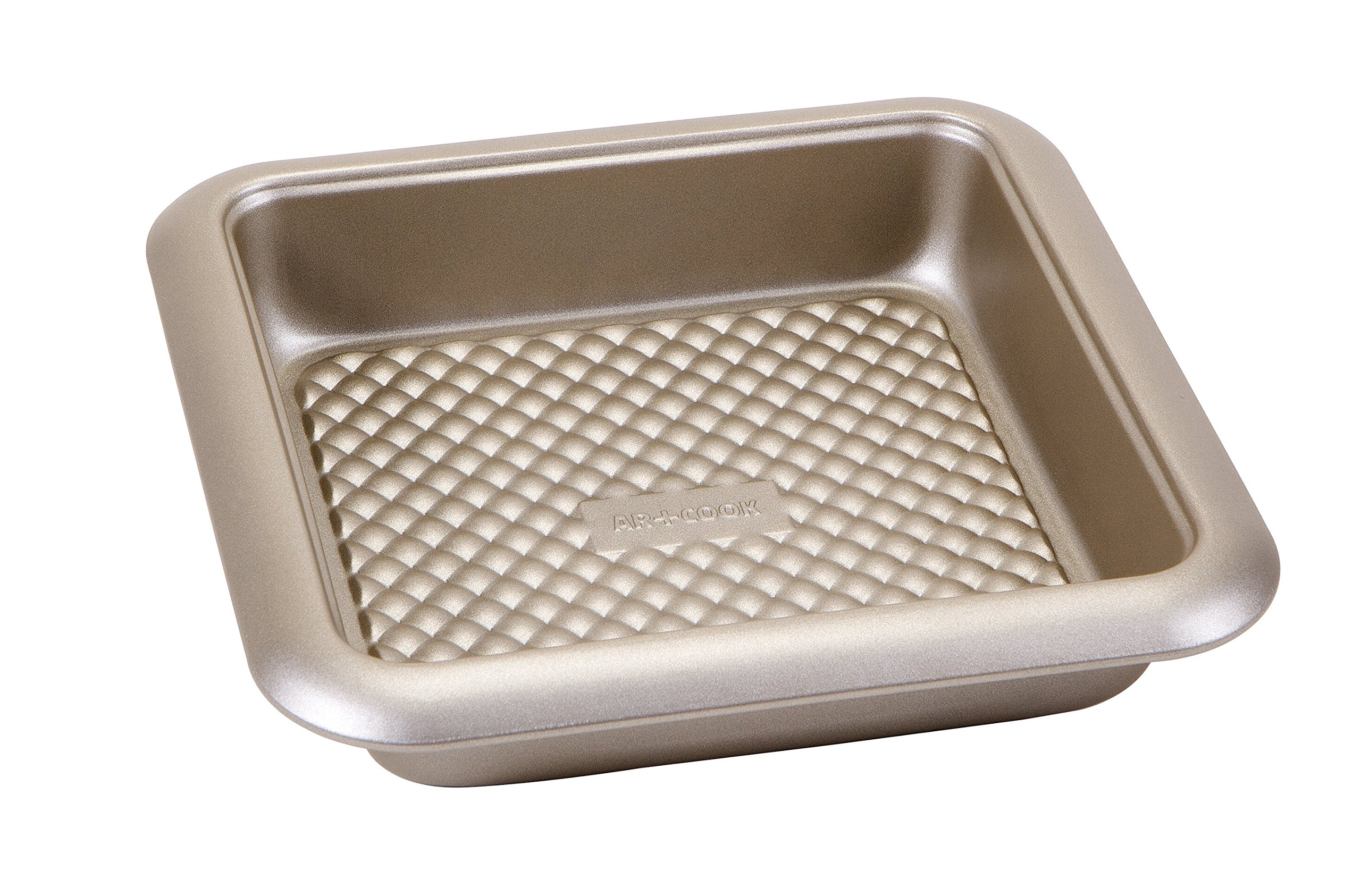 Art and Cook Non-Stick Carbon Steel Square Baking Pan, 9.5'' x 9.5'', Champagne