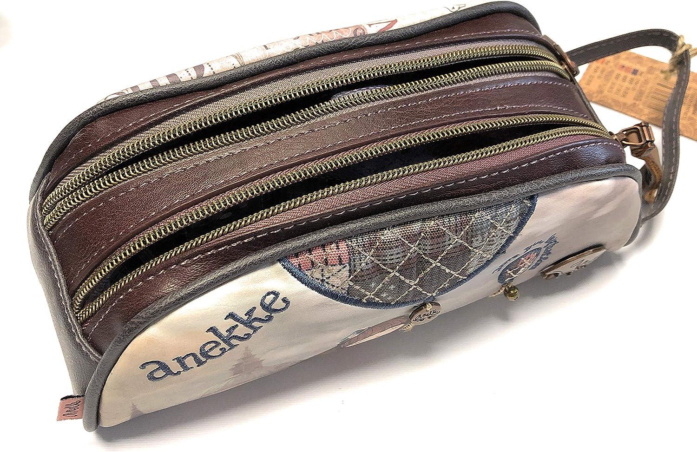 Anekke - Estuche con doble cremallera: Amazon.es: Zapatos y complementos