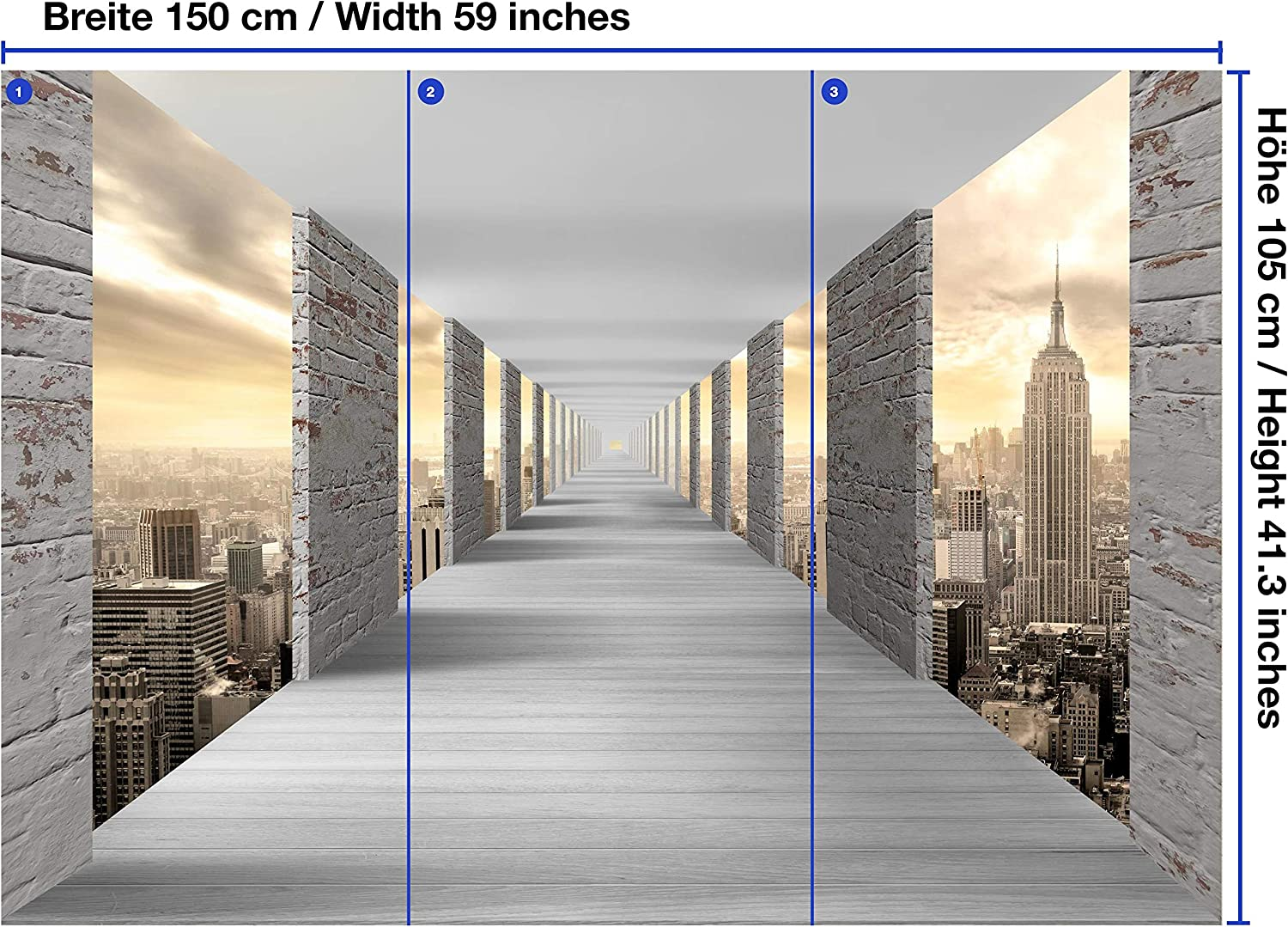 Amazon Wandmotiv24 Wall Mural Tunnel City Of New York