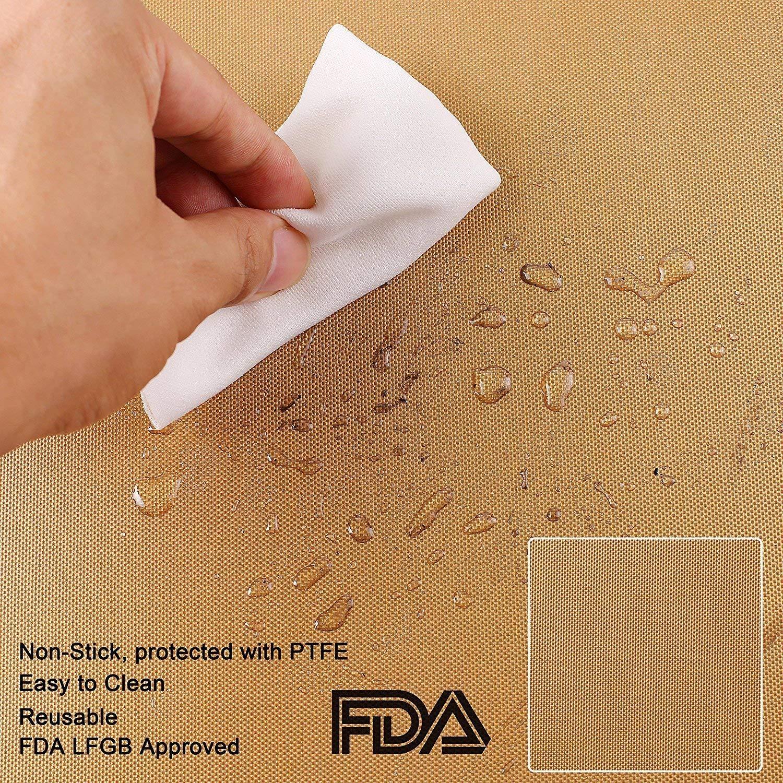 reutilizables funciona en gas Juego de 3 alfombrillas de parrilla de cobre antiadherentes para barbacoa y hornear carb/ón vegetal parrilla el/éctrica f/áciles de limpiar aprobadas por la FDA
