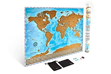 Amazoncom The Ultimate Scratch Off World Map Poster Bundle With - Amazon map of us