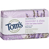 Tom's of Maine Natural Beauty Bar Soap Natural Soap Lavender & Shea with Raw Shea Butter No Parabens No Artificial…