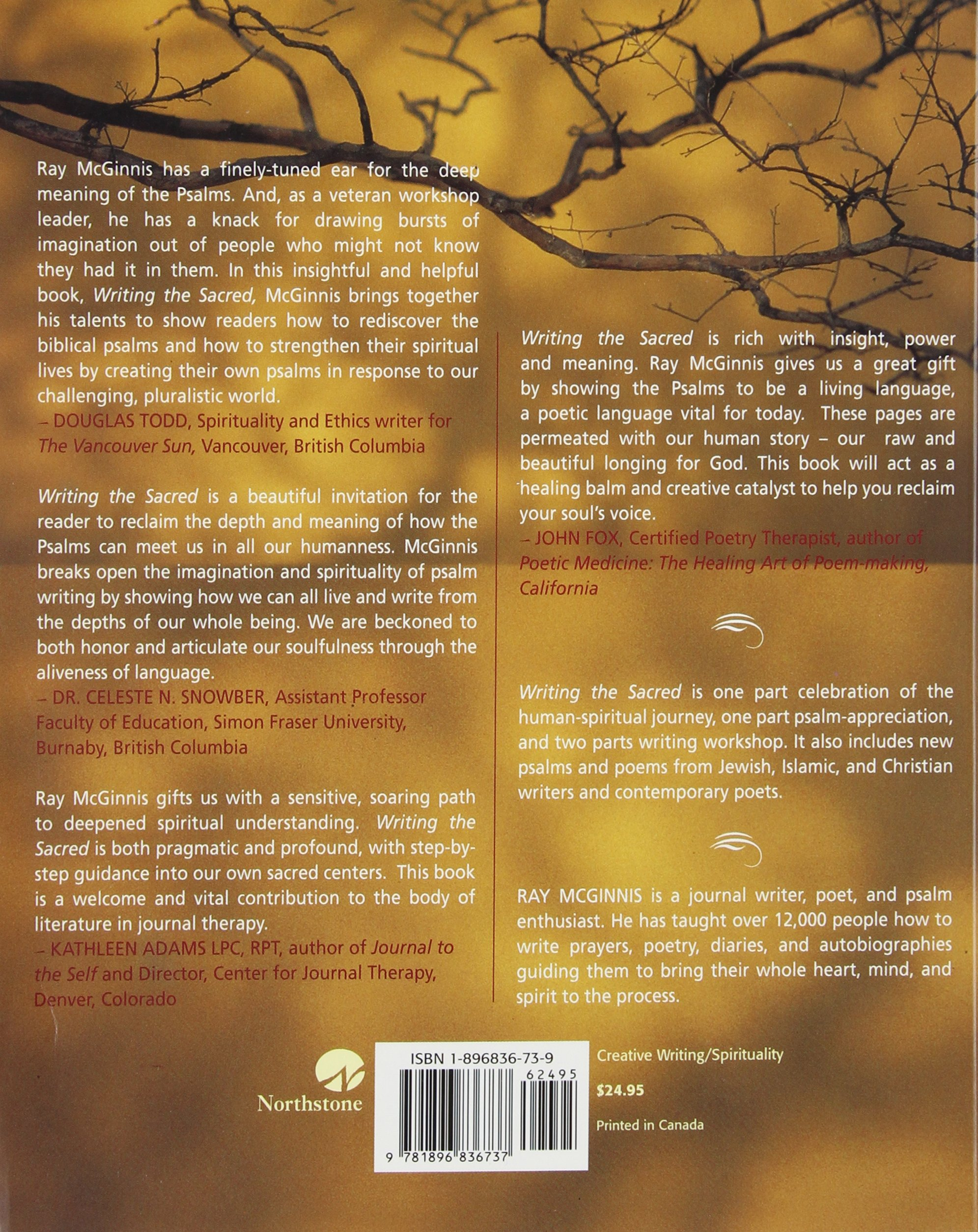 Writing the Sacred: A Psalm-inspired Path to Appreciating and Writing Sacred Poetry by Northstone