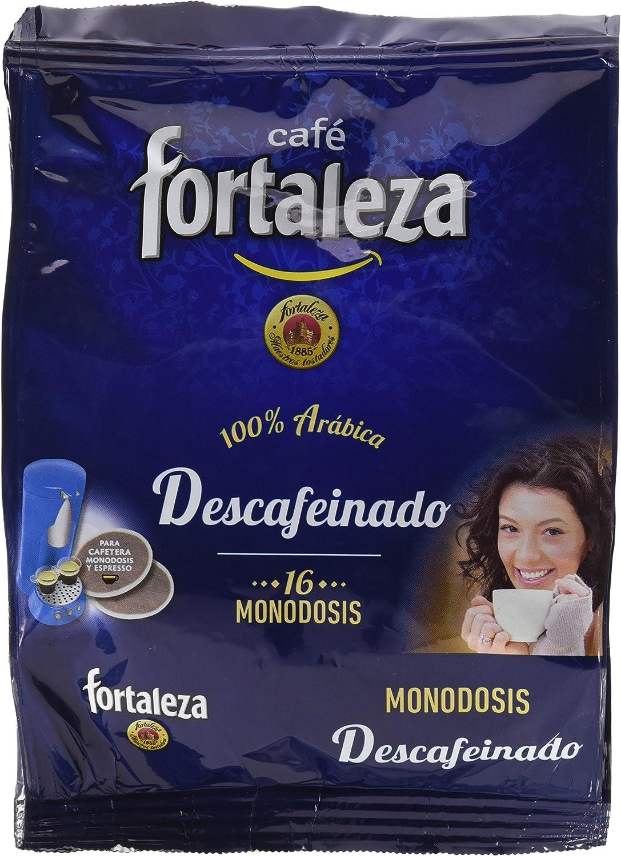 Café Fortaleza Café Descafeinado - 16 monodosis - [Pack de 5 ...