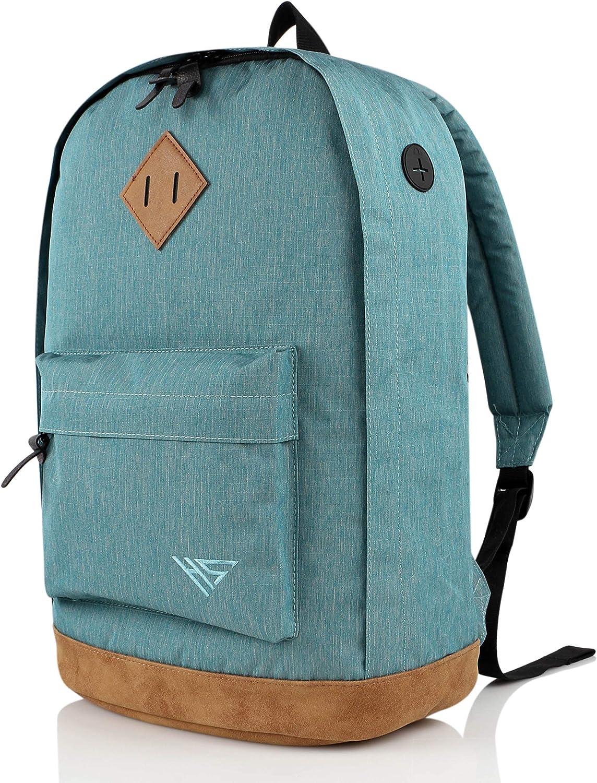 936Plus Casual Backpack College School Laptop Bookbag Water Resistant Work Travel Rucksack, LightTurquoise