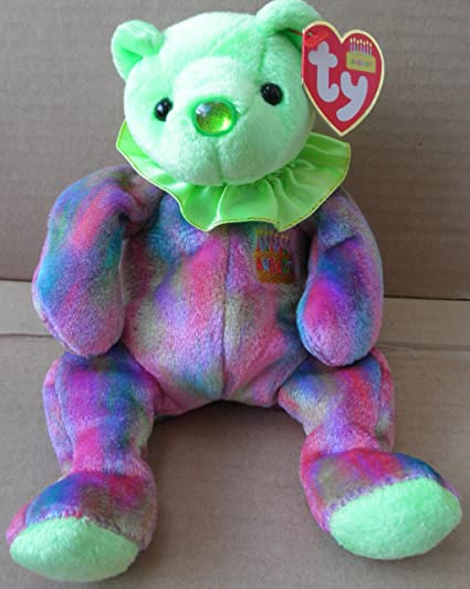 Image Unavailable. Image not available for. Color  TY Beanie Babies Peridot August  Birthday ... f18fa6aa4dc