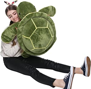 DOLDOA Big Plush Eyes Sea Turtle Stuffed Animal Tortoise Toys for Children Girlfriend (25 inch)