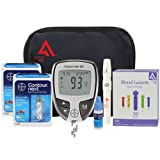 active1st Bayer Contour Next Diabetes Testing Kit with 100 Test Strips, 100 Lancets, Lancing Device, Control Solution, Owners Logbook, Reference Guide and Manual