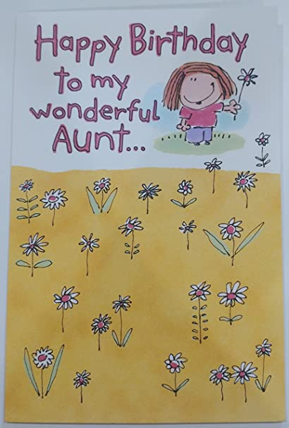 Amazon Happy Birthday To My Wonderful Aunt Greeting Card Sort