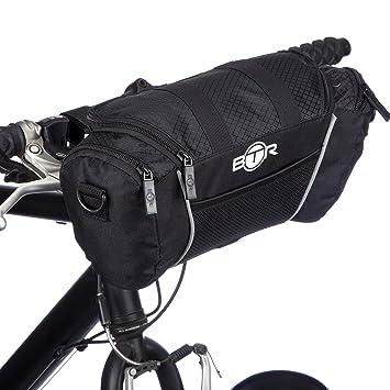 959801e63ce Alforja Black para Manillar de Bicicleta con Correa de Hombro Desmontable  de BTR: Amazon.es: Deportes y aire libre