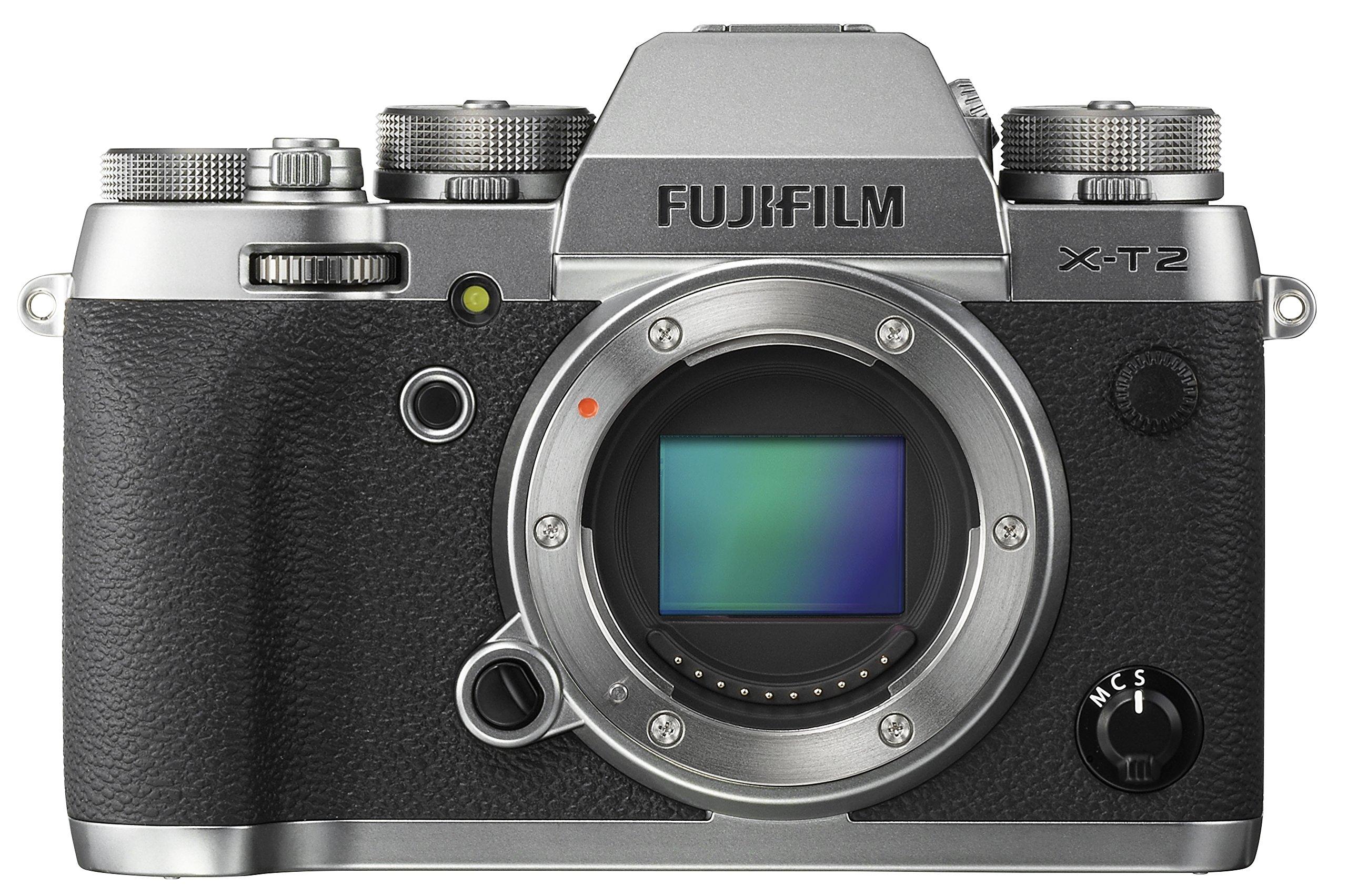 """Fujifilm X-T2 Graphite Silver Edition Fotocamera Digitale da 24MP, Sensore APS-C X-Trans CMOS III, Mirino EVF 2,36MP, Schermo LCD 3"""" Orientabile, Ottiche Intercambiabili, Graphite Argento product image"""
