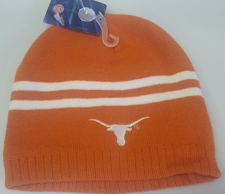 - NCAA テキサス ロングホーン 刺繍入り カフなし ビーニーキャップ   B078VH3X6T