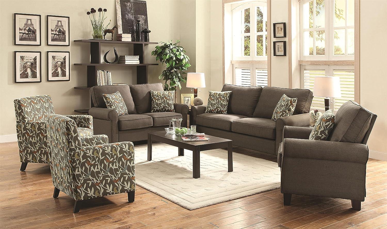 Amazon.com: Coaster 504781 Home Furnishings Sofa, Grey: Kitchen U0026 Dining