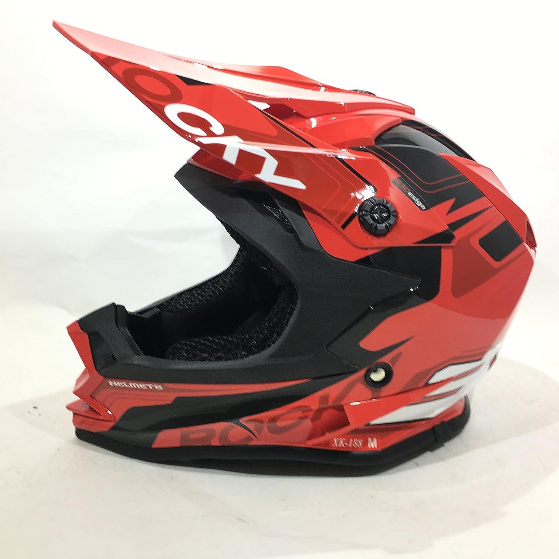 Casco 3GO infantil para motocross y quads, color rojo: Amazon.es: Coche y moto