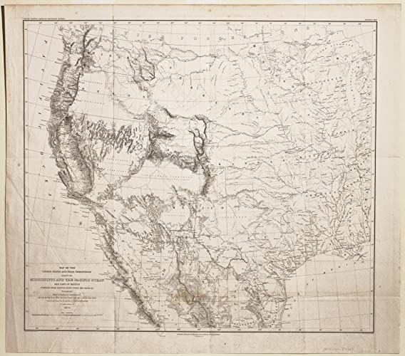 Amazoncom A Map of the United States Their Territories Between