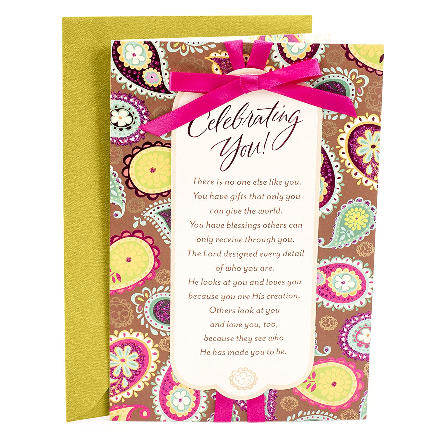 Amazon Hallmark Mahogany Religious Birthday Card For Her Celebrating You Office Products