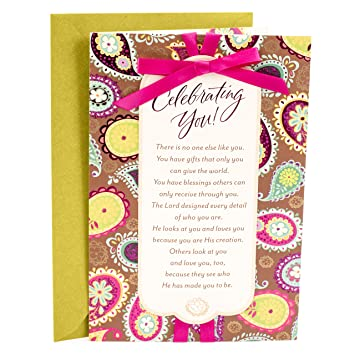 Hallmark Mahogany Religious Birthday Card For Her Celebrating You Amazonin Office Products