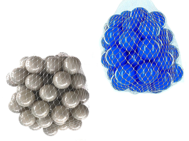 100 Bälle für Bällebad gemischt mix mit blau und grau mybällebad