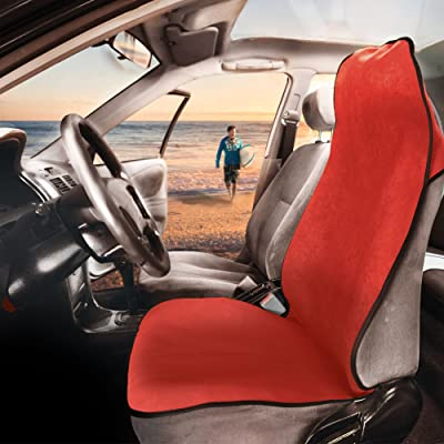 FH Group FH1006 Multifunctional Beach, Fitness Towel Car Seat Cover (Red) One Cover – Universal Fit for Cars, Trucks & SUVs: Automotive