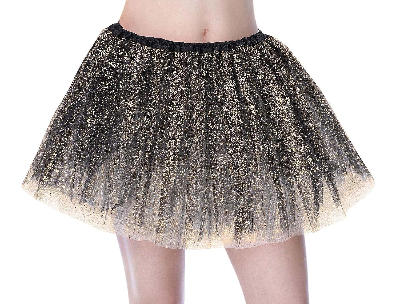 65f61ba12 Amazon.com  EPGM Tutu Women s Sparkle Sequin Triple Layered Tulle ...