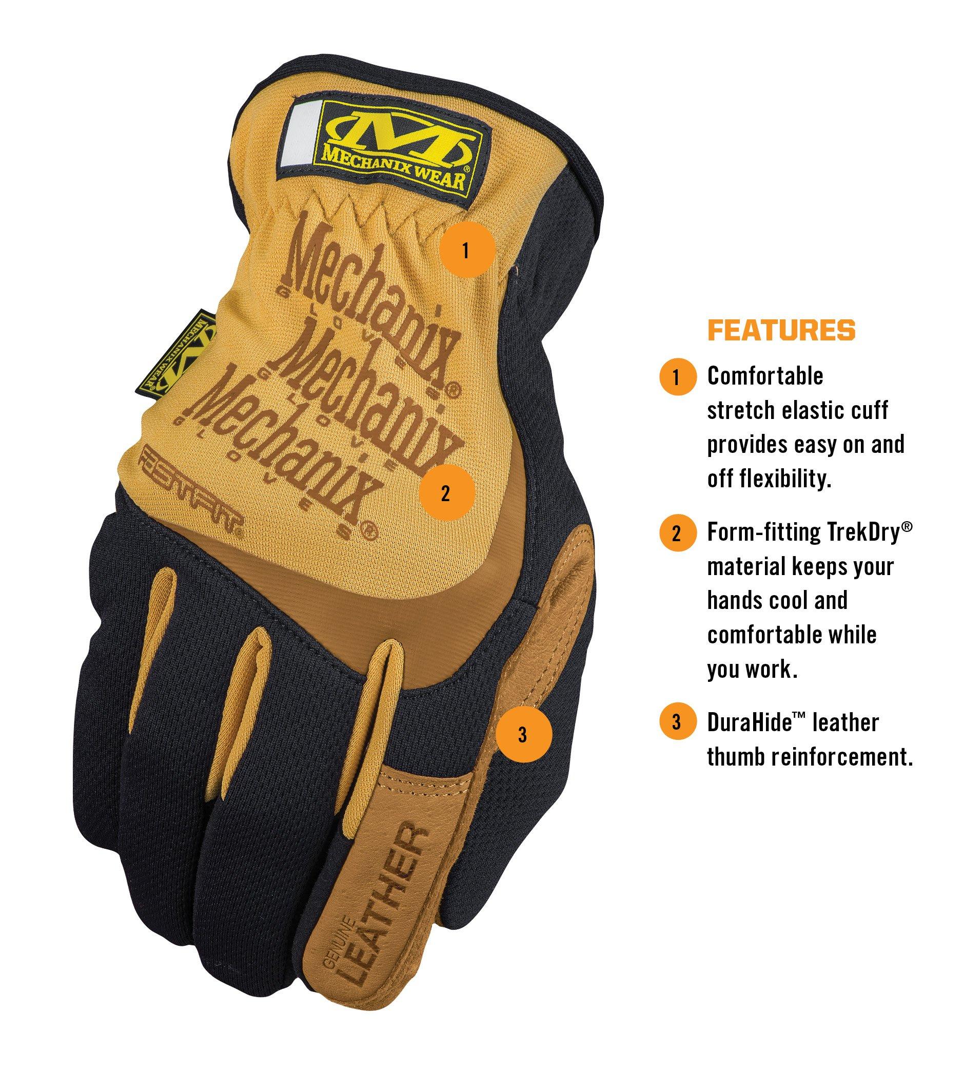 Mechanix Wear - Leather FastFit Gloves (Large, Brown/Black) by Mechanix Wear (Image #2)