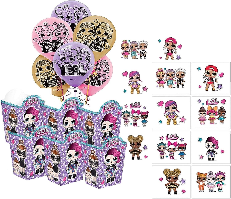 LOL Suprise Muñecas de fiesta de cumpleaños para niñas para 6 invitados. Incluye cajas de regalo, globos y tatuajes.: Amazon.es: Juguetes y juegos