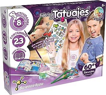 Science4you-5600983615045 Fábrica de Tatuajes para Niños +8 Años, Multicolor (80002225): Amazon.es: Juguetes y juegos