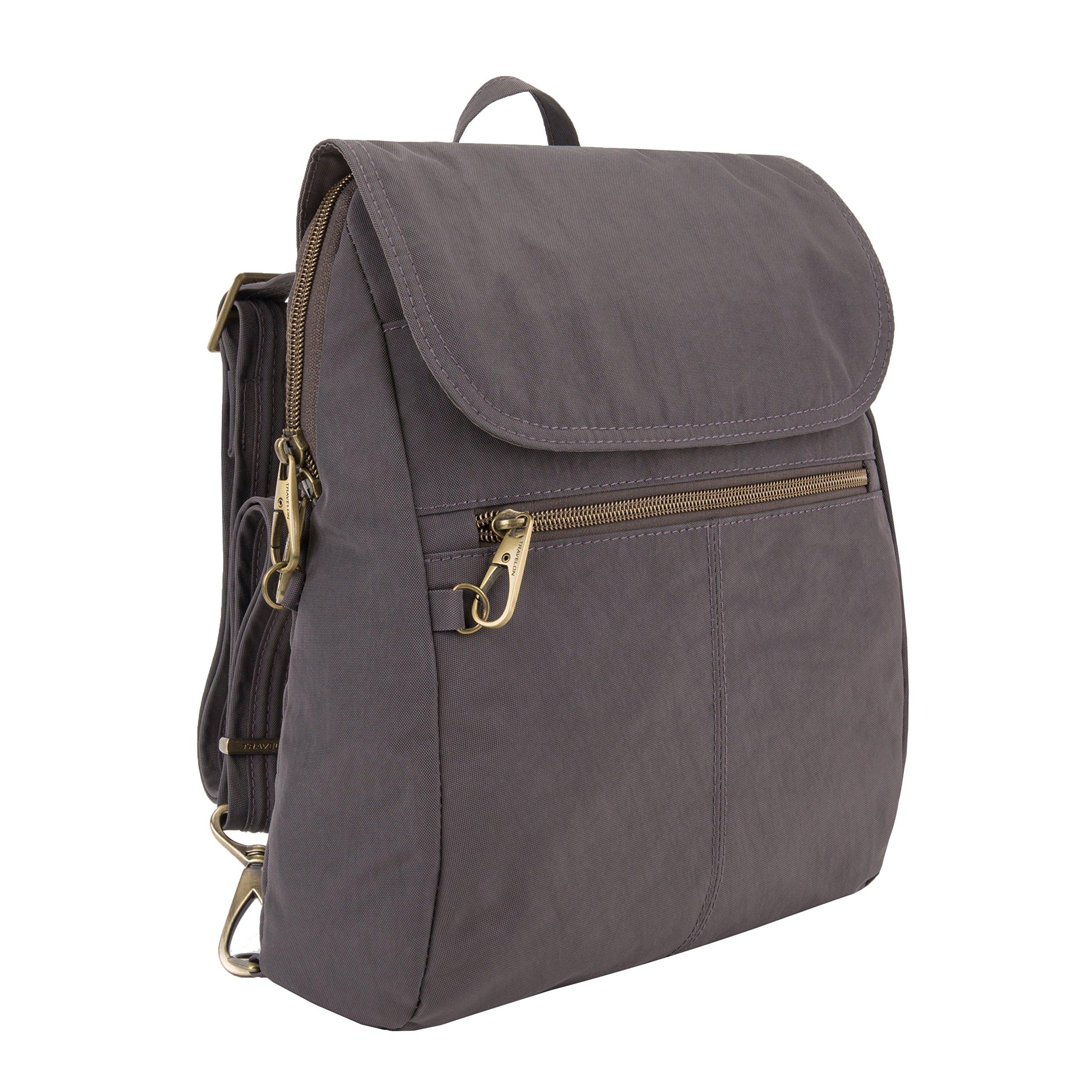 Travelon Anti-theft Signature Slim Backpack, Smoke by Travelon