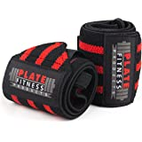 "Wrist Wraps (Premium Quality,18"") by Plate Fitness Products – Superior Materials – Weight Lifting, Powerlifting, Crossfit, Strength Training – One Size Wrist Support for Men and Women"