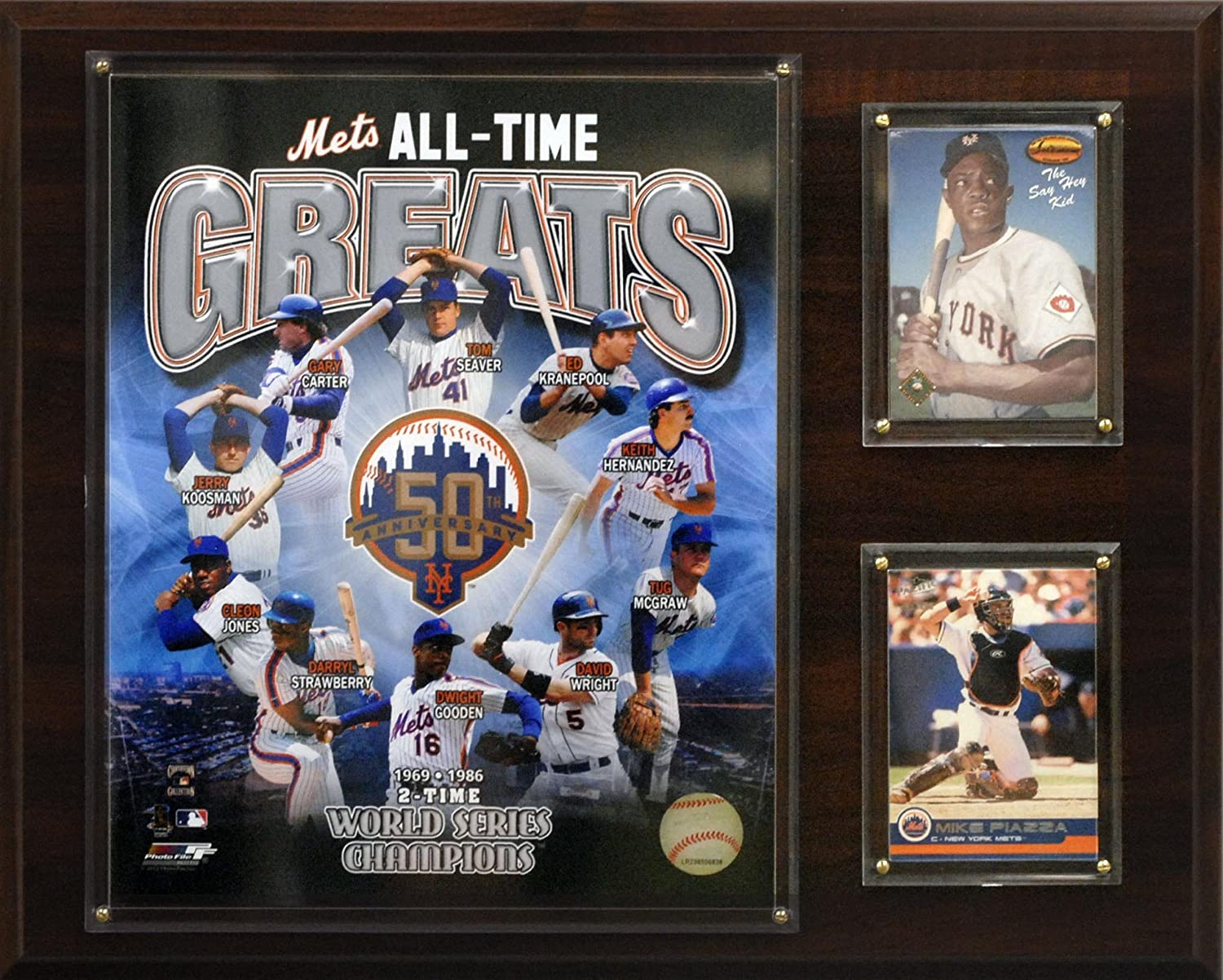 MLB New York Mets All-Time Greats Plaque