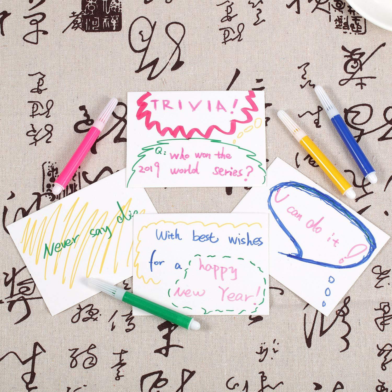 3 x 4 Pollici Chinco 100 Pezzi Carte da Gioco Vuote Giochi Carte Indice Carta Nota Carte per Ufficio Scuola Gioco Fai da Te