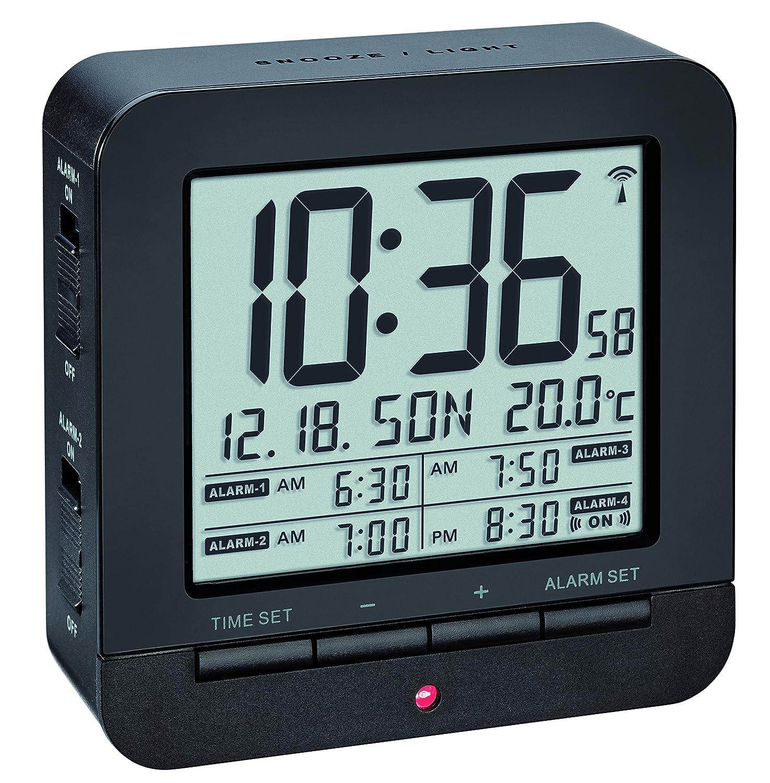 TFA Dostmann Despertador, Weiß, 9.2 x 9.2 x 3.2 cm