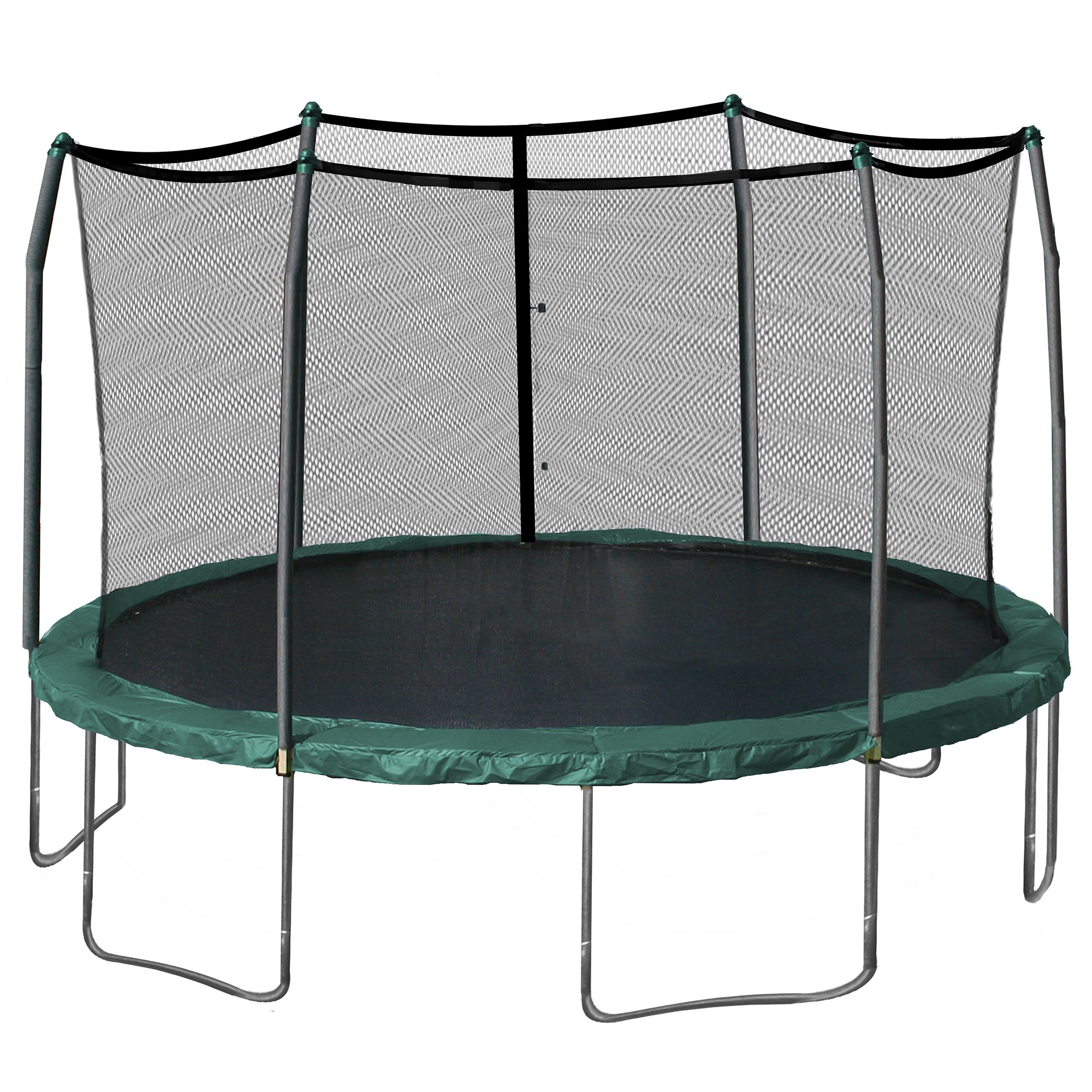Skywalker 15-Feet Round Trampoline and Enclosure Combo with Spring Pad, Green by Skywalker Trampolines