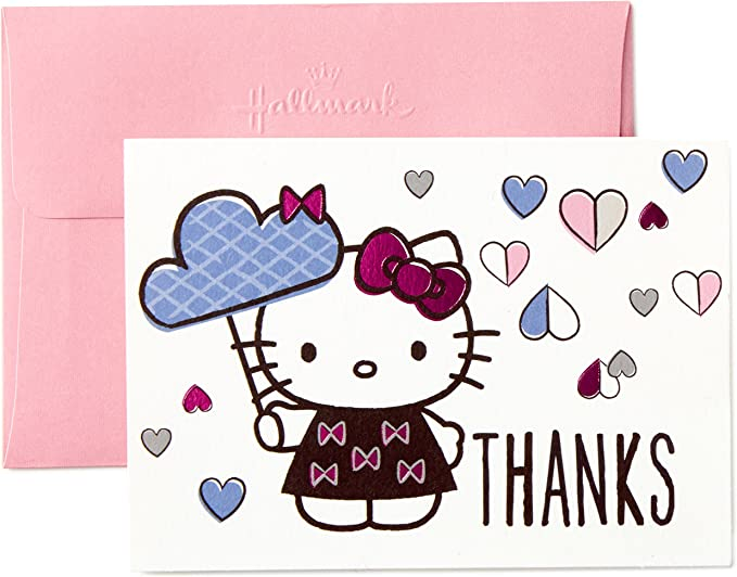 Personalised Hello Kitty Birthday Thank You Cards inc envelopes