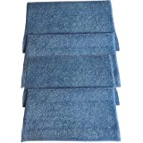 4 Replacements for HAAN Microfiber Steam Pads Fit HAAN Steam Mops & Floor Sanitizer, Compatible With Part # RMF2, RMF2P, RMF2X, RMF4X, RMF4 & RMF-4, Washable & Reusable, by Think Crucial