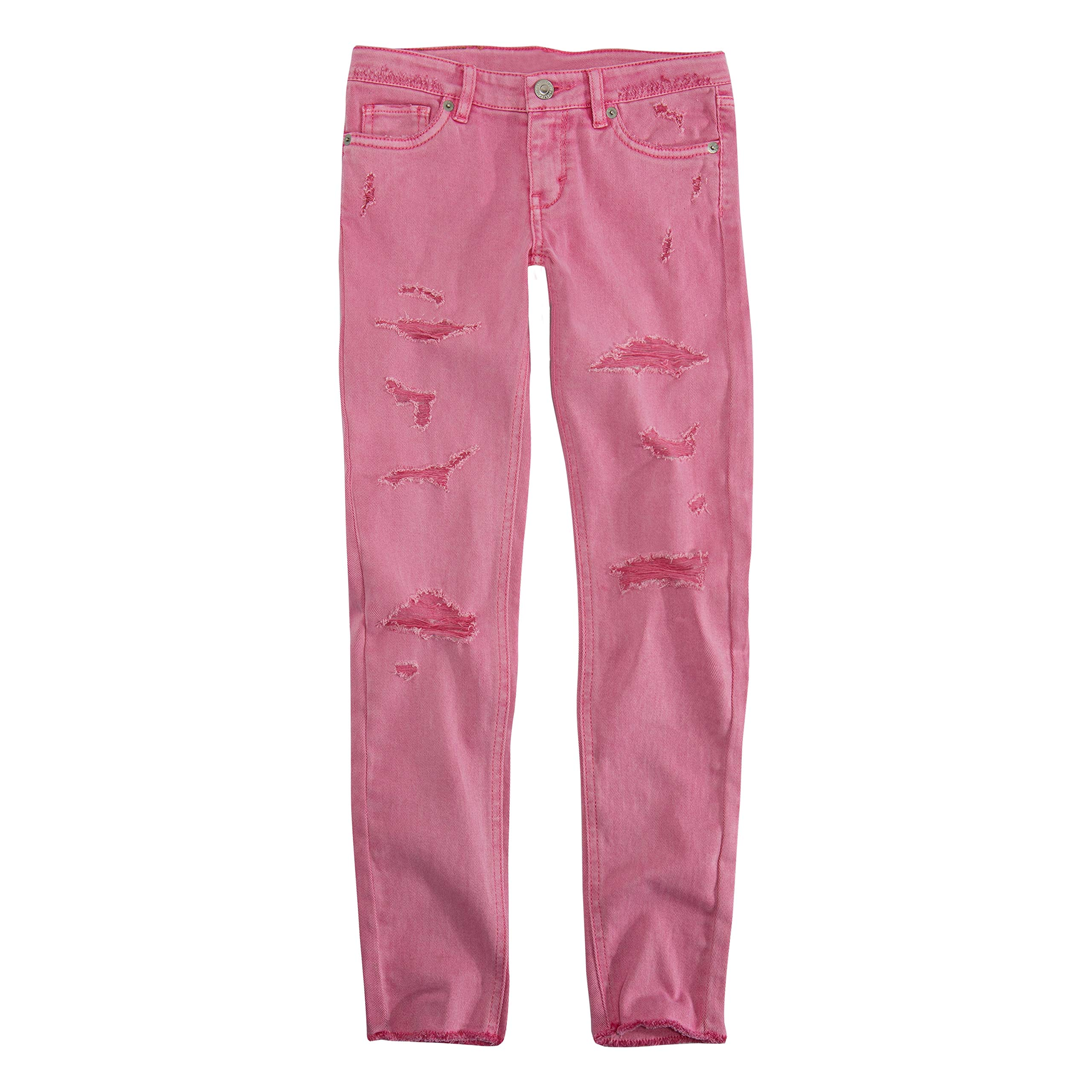 Levi's Girls' Big 710 Super Skinny Fit Color Jeans, Sachet Pink, 8 by Levi's
