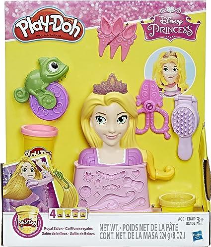 Amazon Com Play Doh Disney Princess Rapunzel Royal Salon Toys Games