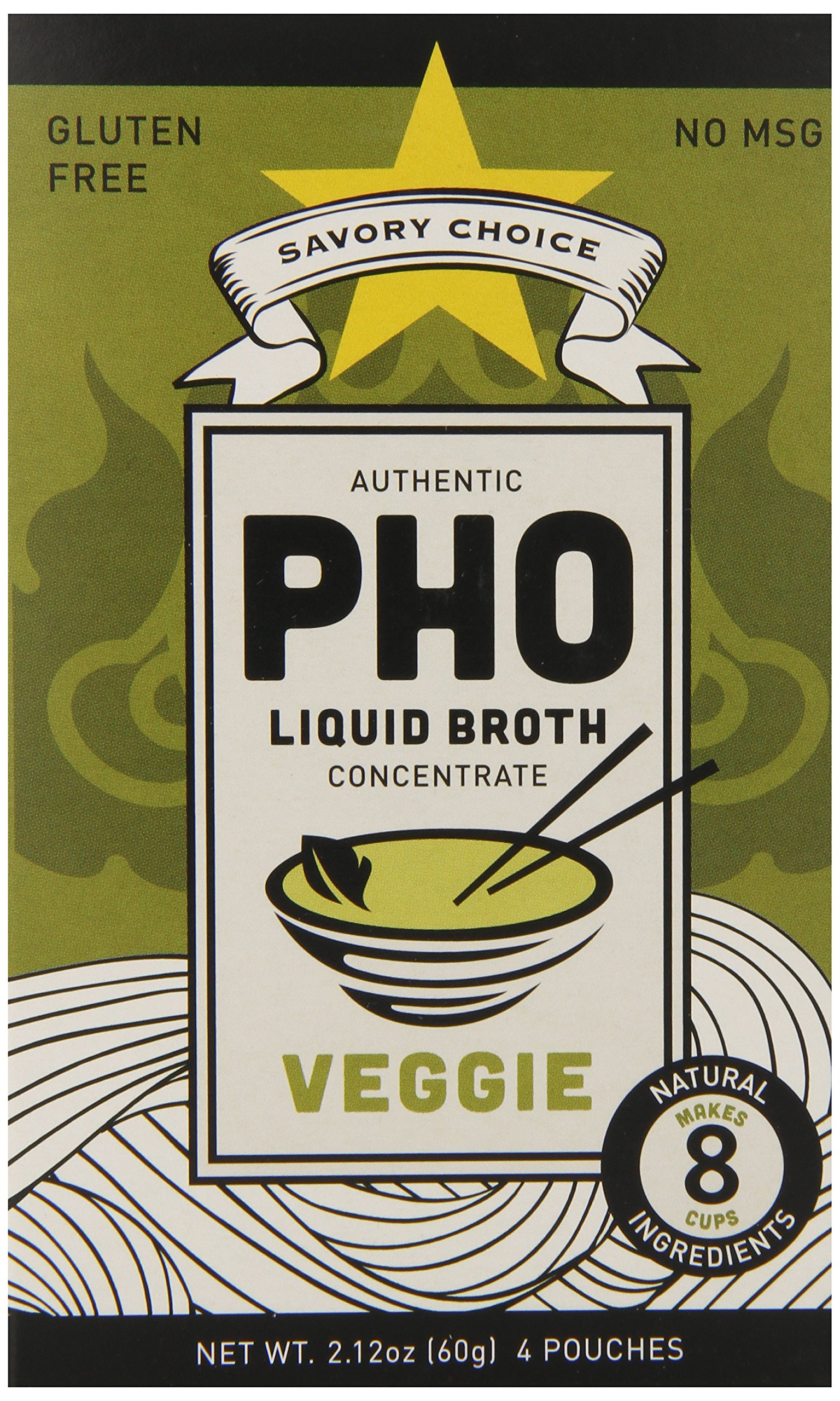 Savory Choice Pho Liquid Broth Concentrate, Vegetable, 2.2 Ounce (Pack of 12) by Savory Choice