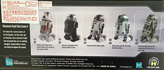 Star Wars Saga Collection EE Astromech Droid Pack R2-A6 Green Loose Complete