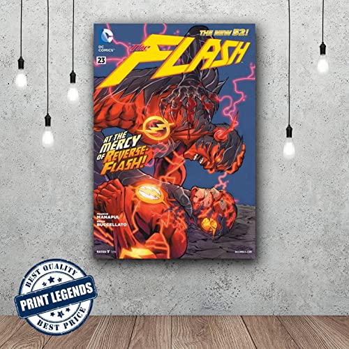 The flash comic book canvas print canvas art wall art framed print