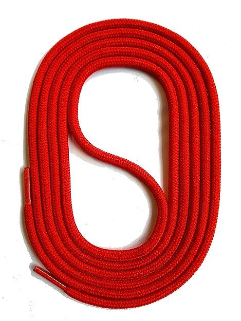 SNORS LACCI COLORATI rotondi ROSSO 60cm 23.6 quot  2-3 mm STRINGHE PER  SCARPE STRINGHE ee8edc7c5f7