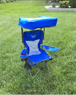 Kids Folding Chair With Canopy And Durable Carry Bag Blue