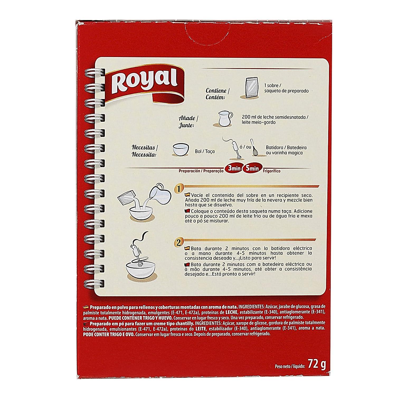 Royal Chantilly - Paquete de 12 x 6 gr - Total: 72 gr: Amazon.es: Alimentación y bebidas