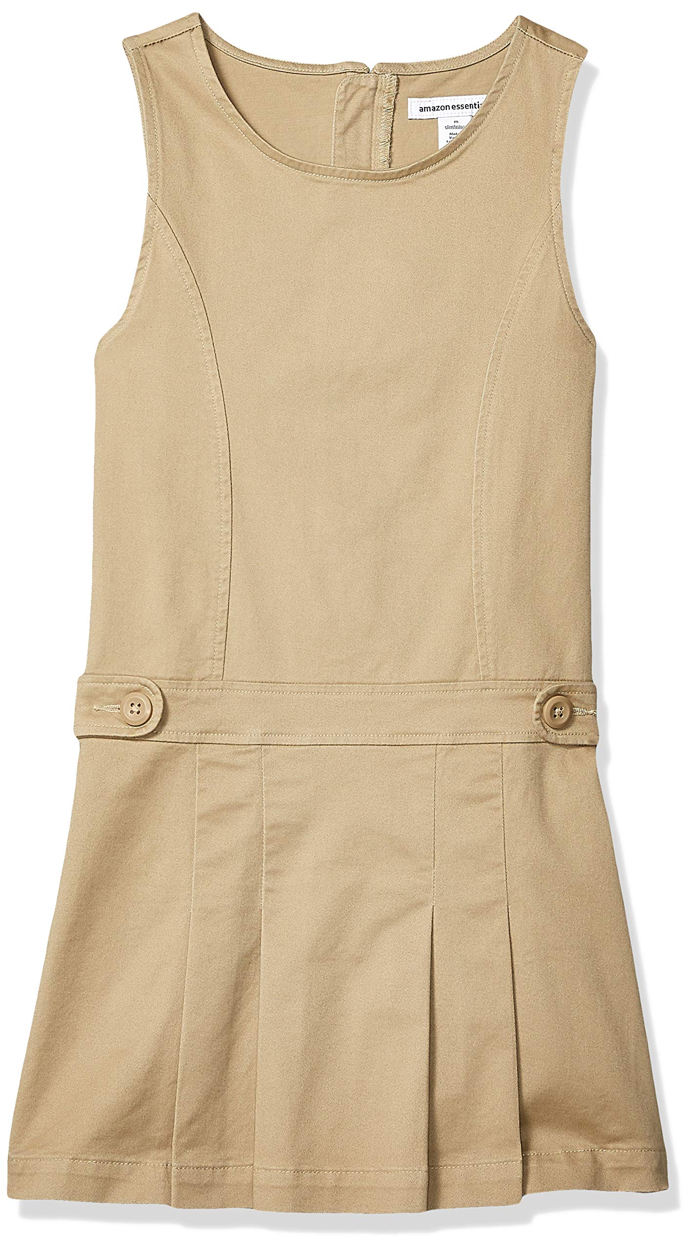 Amazon Essentials Girl's Uniform Jumper, Khaki, L(P) by Amazon Essentials