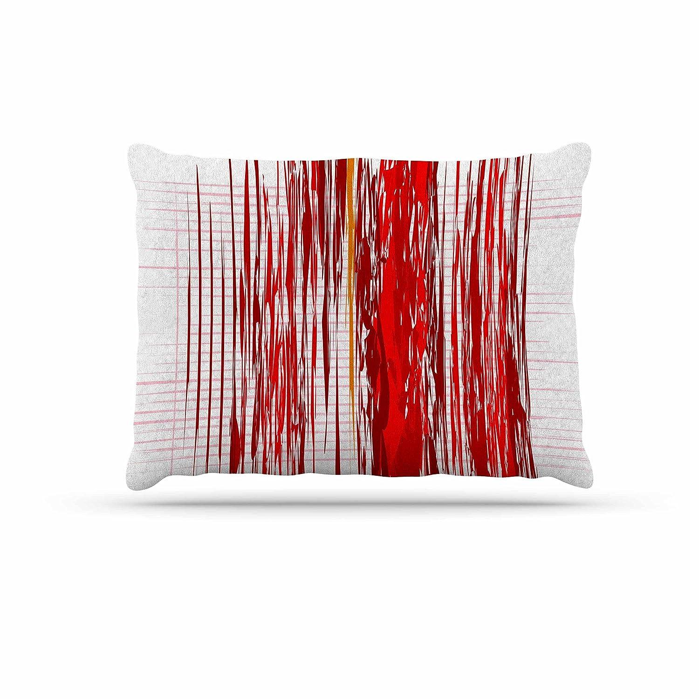 KESS InHouse Maria Bazarova Red Abstraction Red White Dog Bed, 30  x 40