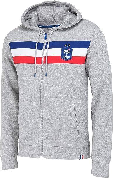 Equipe de FRANCE de football Sweat Capuche FFF Collection Officielle Taille Homme