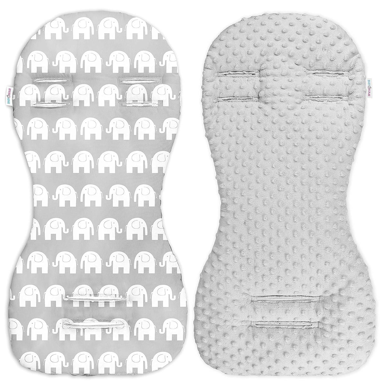 Babymam Universal Dimple Liner Pram Stroller Pad 73x35cm Grey//Blue Grey Stars