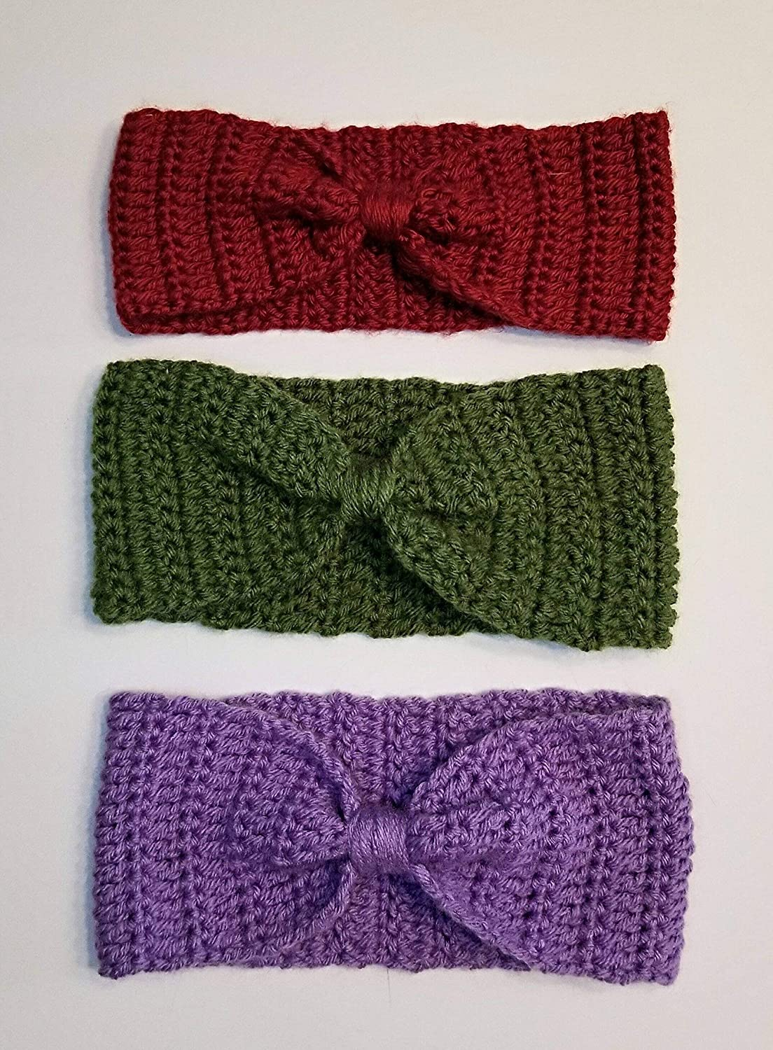 Amazoncom Crochet Bow Headband Handmade Womens Bow Headband Bow