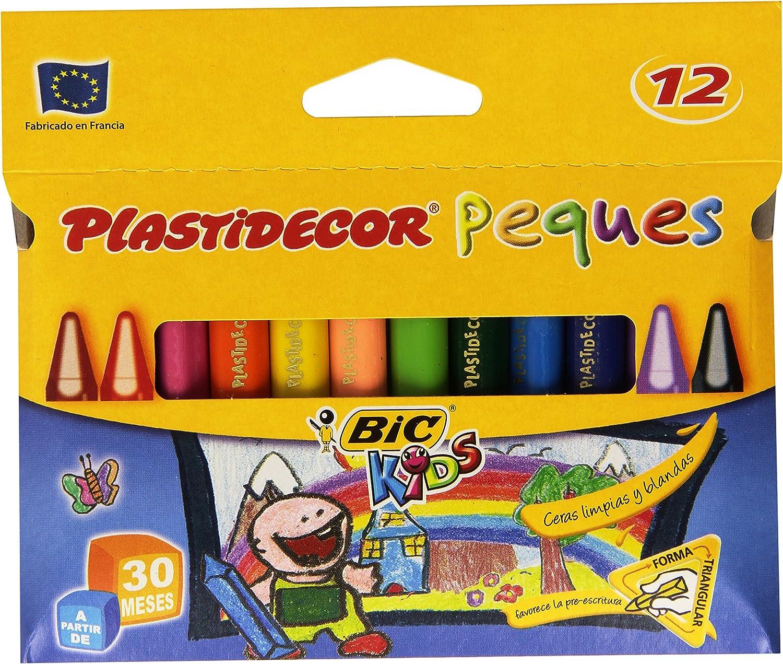 Bic Plastidecor Peques Estuche Con 12 Ceras Tamaño único Multicolor Amazon Es Oficina Y Papelería