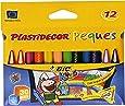 BIC Plastidecor Peques - Pack de 12 ceras limpias y blandas, multicolor